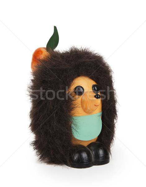 Toy hedgehog with apple Stock photo © GeniusKp
