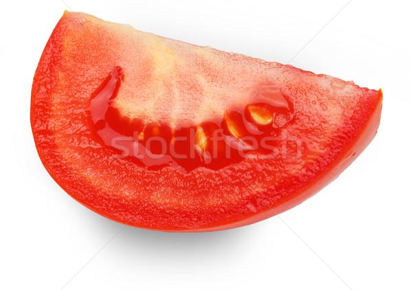 Dilim domates yalıtılmış beyaz gıda sağlık Stok fotoğraf © GeniusKp