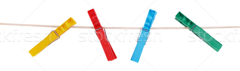 Colorful plastic clothespins Stock photo © GeniusKp