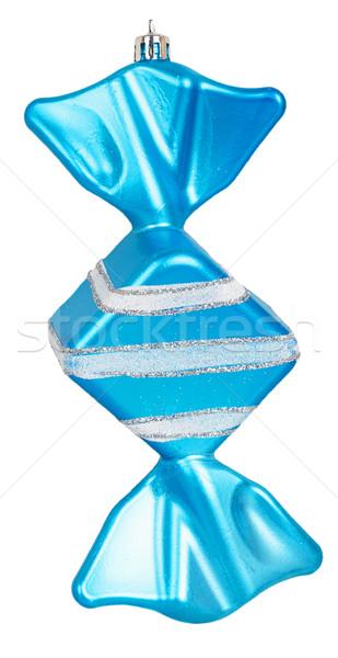 Heldere kerstboom speelgoed Blauw snoep geïsoleerd Stockfoto © GeniusKp