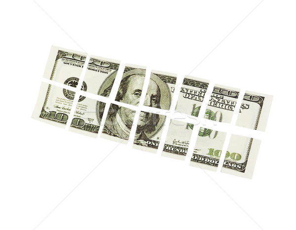 Cut one hundred dollar bill Stock photo © GeniusKp