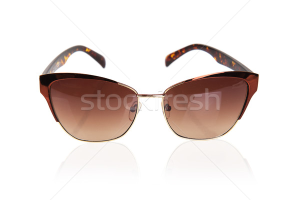 şık güneş gözlüğü yalıtılmış beyaz göz moda Stok fotoğraf © GeniusKp