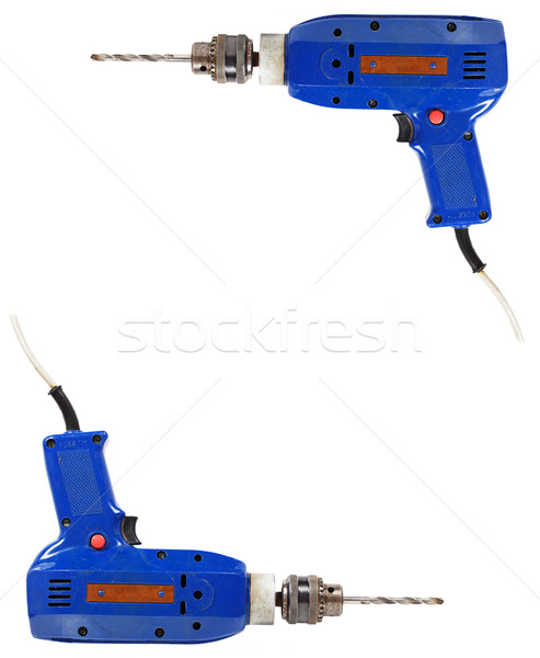 Frame of blue electric drill Stock photo © GeniusKp