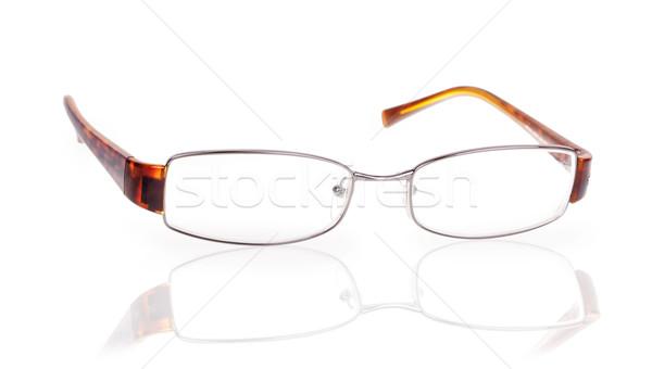 Donna occhiali isolato bianco riflessione medici Foto d'archivio © GeniusKp