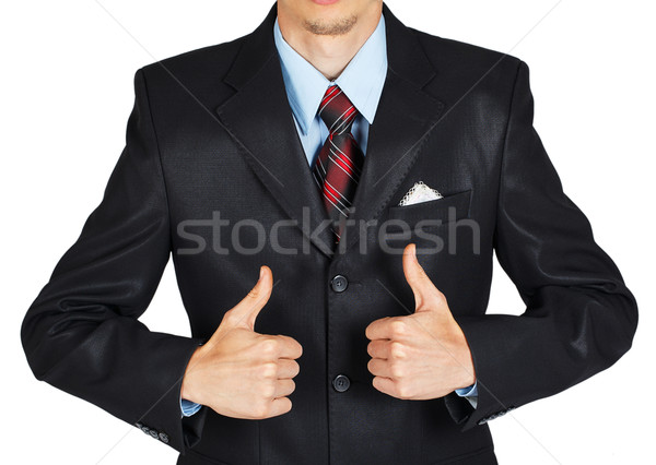 Uomo abito nero bianco business Foto d'archivio © GeniusKp