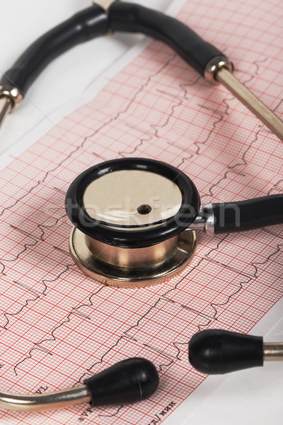 Stethoscope with cardiogram Stock photo © GeniusKp