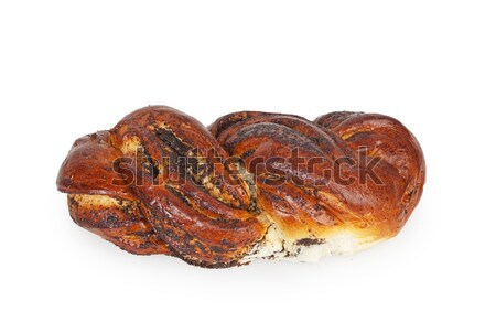 Papoula sementes isolado branco fundo pão Foto stock © GeniusKp