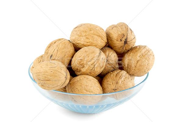 Kom geïsoleerd witte tabel groep vruchten Stockfoto © GeniusKp