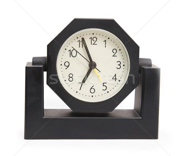 Ver preto relógio isolado branco Foto stock © GeniusKp