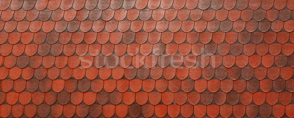 ストックフォト: 赤 · 屋根 · 粘土 · タイル · テクスチャ · 建設