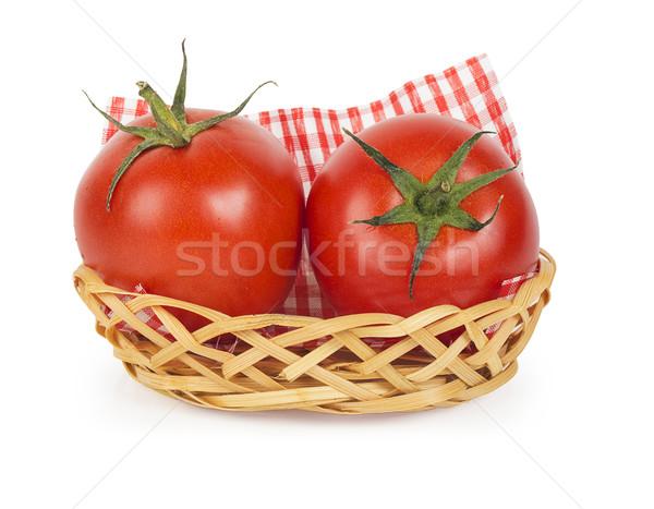 Iki olgun sulu domates sepet yalıtılmış Stok fotoğraf © GeniusKp