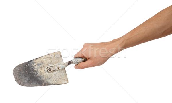 Building trowel in male hand Stock photo © GeniusKp