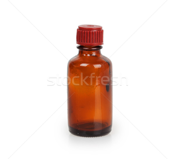 Lege bruin jar drugs geïsoleerd witte Stockfoto © GeniusKp