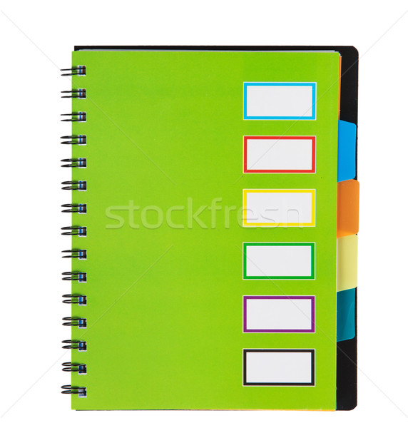 Green notebook on spirals Stock photo © GeniusKp
