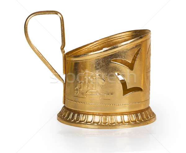 Old yellow metal cup holder Stock photo © GeniusKp