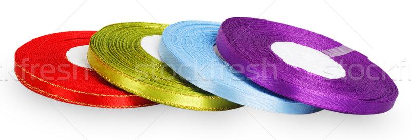 Bright spools satin ribbons Stock photo © GeniusKp