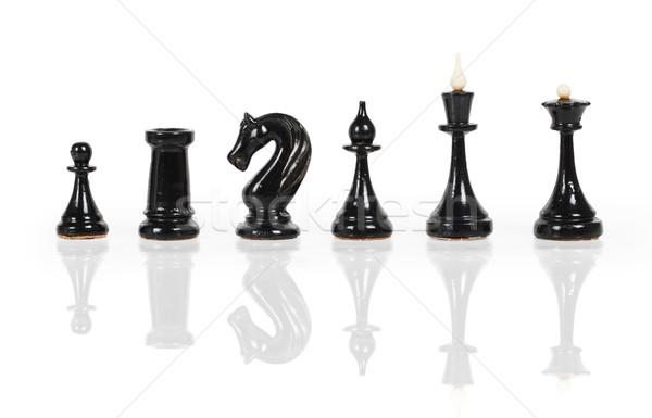 Black chess figures Stock photo © GeniusKp