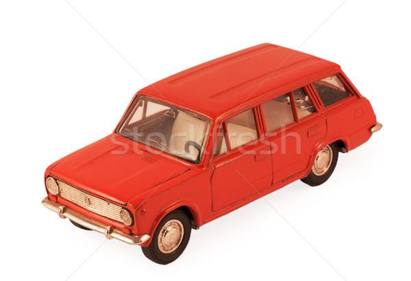 Kırmızı oyuncak araba model yalıtılmış beyaz Stok fotoğraf © GeniusKp
