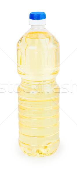 Garrafa óleo de girassol isolado branco comida sol Foto stock © GeniusKp