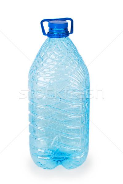 Boş plastik şişe yalıtılmış beyaz mavi Stok fotoğraf © GeniusKp