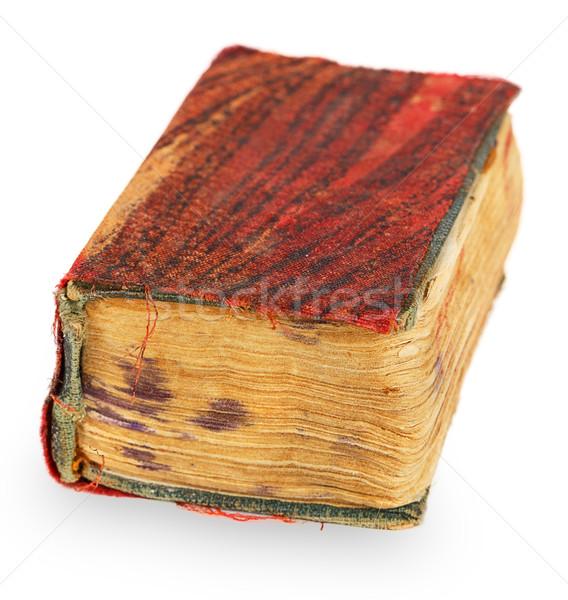 Oud boek geïsoleerd witte textuur boek achtergrond Stockfoto © GeniusKp