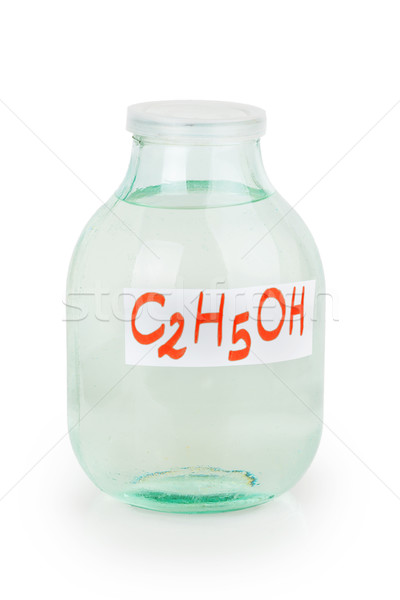 closed lid three liter transparent glass jar filled with alcohol Stock photo © GeniusKp