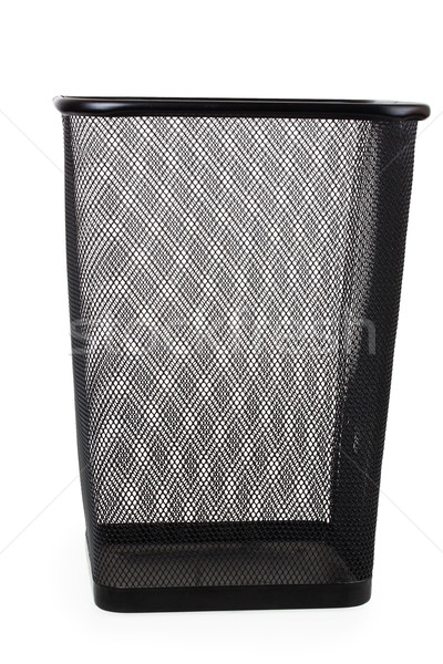 Office paper black empty trash bin Stock photo © GeniusKp