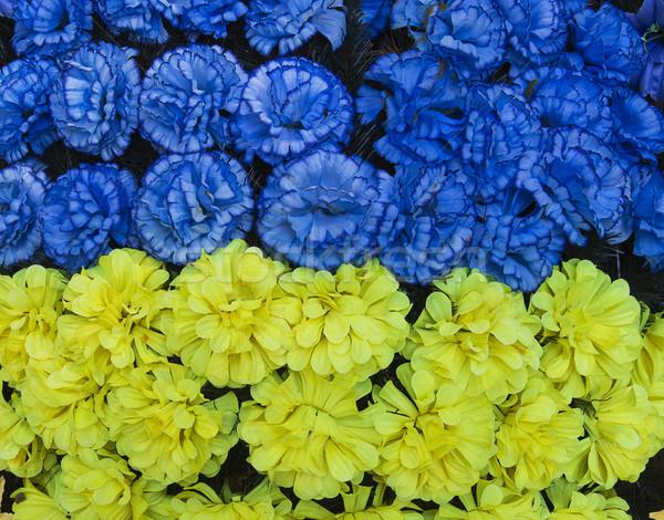 Zászló mesterséges virágok égbolt virág papír Stock fotó © GeniusKp