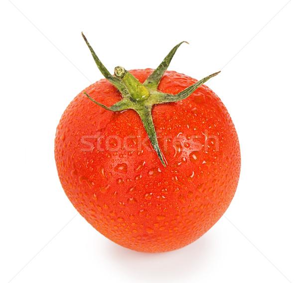 Kırmızı olgun domates damla yalıtılmış beyaz Stok fotoğraf © GeniusKp