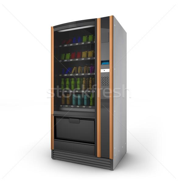 торговый автомат цифровой генерируется изолированный белый бизнеса Сток-фото © georgejmclittle
