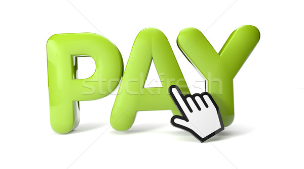 pay icon Stock photo © georgejmclittle