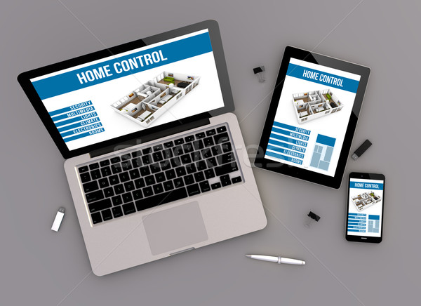 responsive design home control zenith view Stock photo © georgejmclittle