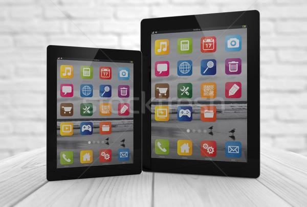 Deux différent numérique généré tous écran Photo stock © georgejmclittle