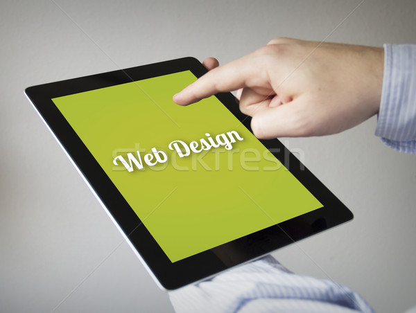 web design on a tablet Stock photo © georgejmclittle