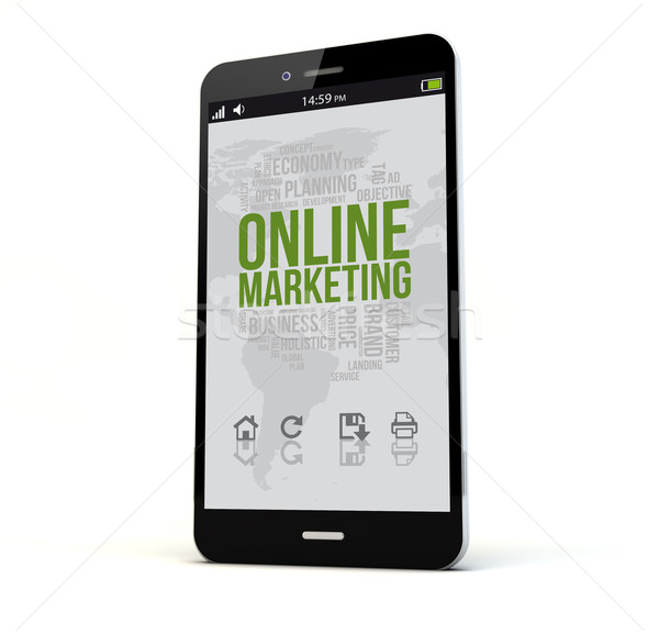 online marketing phone Stock photo © georgejmclittle