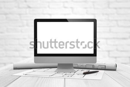 architecture studio mock-up Stock photo © georgejmclittle