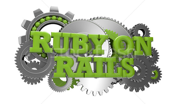 ruby on rails Stock photo © georgejmclittle