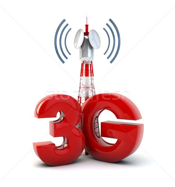 3g kule vermek iletişim metin teknoloji Stok fotoğraf © georgejmclittle