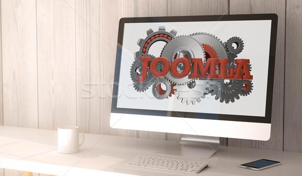 desktop computer joomla Stock photo © georgejmclittle