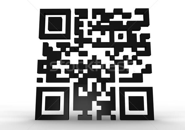 Qr code geven technologie teken industriële zwarte Stockfoto © georgejmclittle