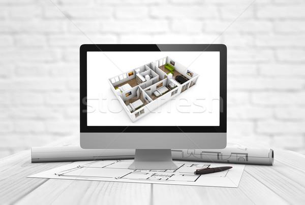 architecture studio interior design Stock photo © georgejmclittle