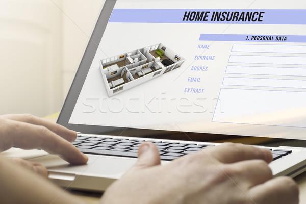 home computing homeinsurance Stock photo © georgejmclittle