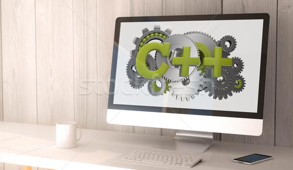 desktop computer c++ Stock photo © georgejmclittle