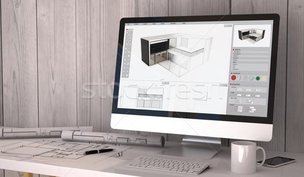 architect studio Stock photo © georgejmclittle