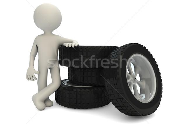 оказывать человека группа шины текстуры спорт Сток-фото © georgejmclittle