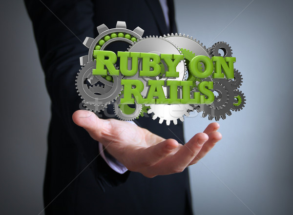 ruby on rails coding Stock photo © georgejmclittle