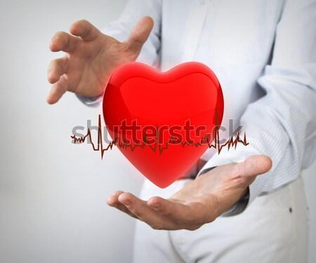 Zorgverzekering 3D liefde gezondheid ziekenhuis geneeskunde Stockfoto © georgejmclittle