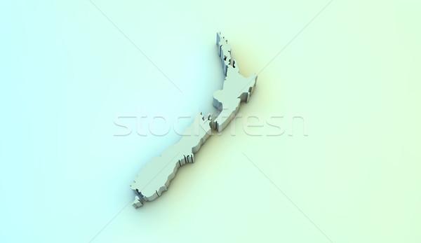 Nueva Zelandia 3D mapa hacer Foto stock © georgejmclittle