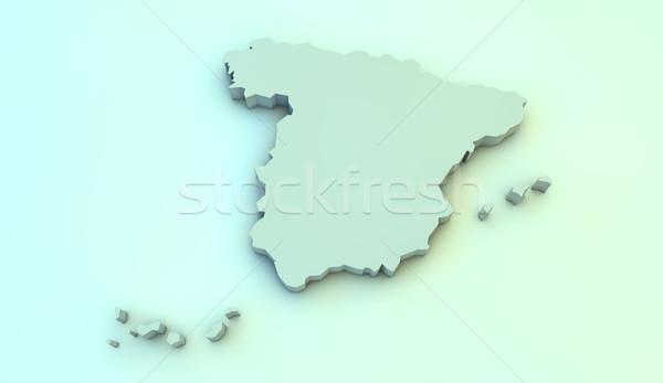 Espagne 3D carte Photo stock © georgejmclittle
