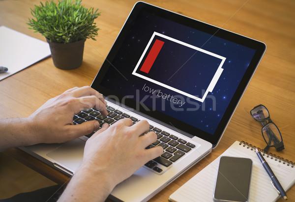 computer desktop low battery Stock photo © georgejmclittle